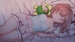 Rating: Safe Score: 71 Tags: bed blush brown_hair mankai_kaika original pajamas short_hair sleeping User: Arsy