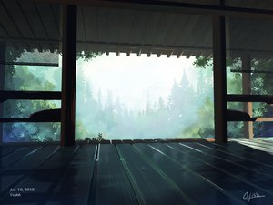 Rating: Safe Score: 68 Tags: aliasing building forest nobody original scenic signed tree waisshu_(sougyokyuu) User: RyuZU