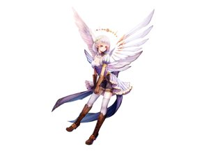 Rating: Safe Score: 151 Tags: aka_tonbo_(lovetow) boots breasts cleavage elbow_gloves gloves original pointed_ears purple_eyes short_hair shorts thighhighs white white_hair wings zettai_ryouiki User: C4R10Z123GT