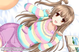 Rating: Safe Score: 74 Tags: boots bow brown_eyes brown_hair long_hair love_live!_school_idol_project minami_kotori signed the-sinner watermark User: RyuZU