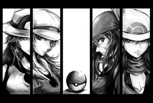 Rating: Safe Score: 185 Tags: haruka_(pokemon) hat hikari_(pokemon) kotone_(pokemon) leaf_(pokemon) monochrome pokemon shadow_cat User: HellUpLine
