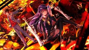 Rating: Safe Score: 72 Tags: adashino_benio enmadou_rokuro male sousei_no_onmyouji swordsouls User: luckyluna
