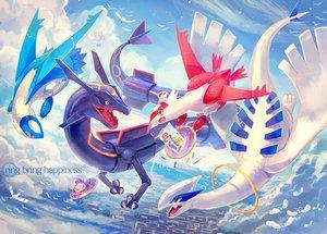 Rating: Safe Score: 33 Tags: animal bird clouds latias latios lugia meowth nagakura_(seven_walkers) pikachu pokemon rayquaza satoshi_(pokemon) sky wingull User: RyuZU