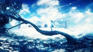 Rating: Safe Score: 33 Tags: building city clouds dress long_hair original sky tree y_y_(ysk_ygc) User: BattlequeenYume