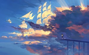 Rating: Safe Score: 193 Tags: aircraft animal clouds kklaji008 original scenic shorts sky User: Flandre93
