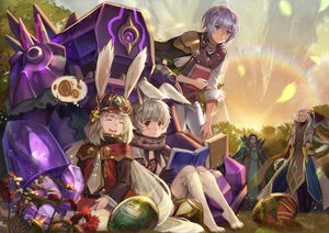 Rating: Safe Score: 22 Tags: animal_ears aosta_(sdorica) blue_hair book bunny_ears cape charle_(sdorica) clouds experiment_46_(sdorica) flowers glasses gloves grass gray_hair group hat jeonpa leah_(sdorica) lio_(sdorica) long_hair male rainbow red_eyes sdorica_-sunset- short_hair sky sleeping sunset tie white_hair User: otaku_emmy