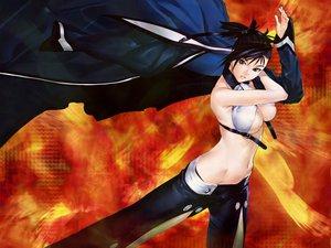 Rating: Safe Score: 13 Tags: bakuretsu_tenshi black_hair blue_eyes breasts cleavage hakua_ugetsu navel orange sei underboob User: Oyashiro-sama
