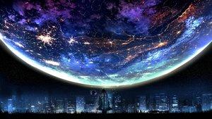 Rating: Safe Score: 138 Tags: building city migataseizixyu night original planet silhouette sky stars User: RyuZU