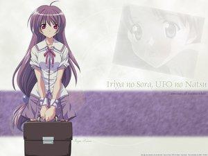 Rating: Safe Score: 11 Tags: iriya_kana iriya_no_sora_ufo_no_natsu long_hair purple_hair red_eyes school_uniform User: 秀悟