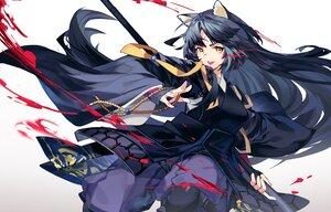 Rating: Safe Score: 53 Tags: animal_ears arknights armor black_hair blood doggirl gloves gradient japanese_clothes long_hair saga_(arknights) samurai spear tsumiki_(12756023) weapon yellow_eyes User: otaku_emmy