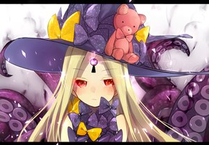 Rating: Safe Score: 38 Tags: abigail_williams_(fate/grand_order) blonde_hair bow close fate/grand_order fate_(series) hat loli long_hair red_eyes tagme_(artist) teddy_bear tentacles User: BattlequeenYume