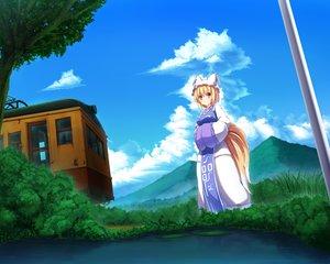 Rating: Safe Score: 21 Tags: blonde_hair foxgirl liya sky tail touhou train yakumo_ran yellow_eyes User: mattiasc02