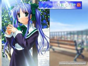 Rating: Safe Score: 4 Tags: aqua_eyes blue_hair narukaze_minamo school_uniform twintails wind:_a_breath_of_heart User: Oyashiro-sama