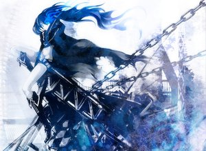 Rating: Safe Score: 63 Tags: black_rock_shooter kuroi_mato sword weapon white User: anaraquelk2
