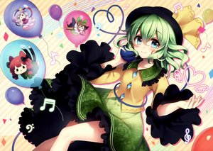Rating: Safe Score: 108 Tags: blue_eyes catgirl chibi green_hair hat kaenbyou_rin komeiji_koishi komeiji_satori masaru.jp multiple_tails music reiuji_utsuho scan short_hair skirt tail touhou User: Dummy