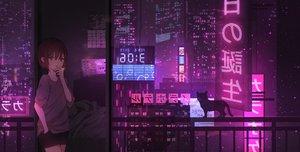 Rating: Safe Score: 98 Tags: animal building cat catzz city night original purple scenic smoking User: FormX