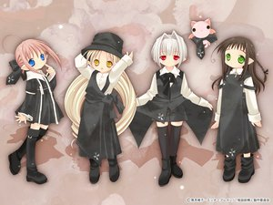 Rating: Safe Score: 3 Tags: bottle_fairy chiriri hororo kururu oboro pointed_ears sarara tokumi_yuiko User: Oyashiro-sama