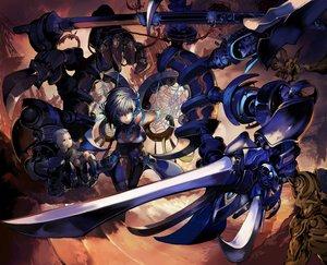 Rating: Safe Score: 106 Tags: eel gray_hair katana original short_hair sword weapon yellow_eyes User: 02