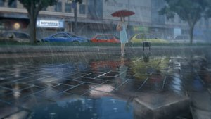 Rating: Safe Score: 85 Tags: building car dress rain tagme_(artist) umbrella water User: winjoo