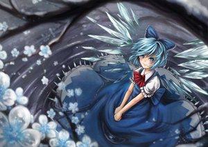 Rating: Safe Score: 39 Tags: blue_hair cirno dress fairy flowers ks touhou water wings User: HawthorneKitty