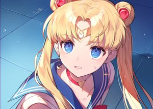 Rating: Safe Score: 57 Tags: aqua_eyes azit_(down) blonde_hair choker close headband long_hair parody sailor_moon sailor_moon_(character) school_uniform signed tsukino_usagi twintails User: Dreista