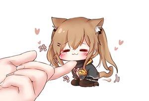 Rating: Safe Score: 51 Tags: animal_ears anthropomorphism blush brown_hair catgirl cat_smile chibi girls_frontline honyang long_hair pantyhose skirt tail twintails ump-9_(girls_frontline) User: BattlequeenYume