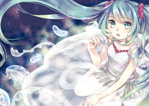 Rating: Safe Score: 95 Tags: dress gomano_rio hatsune_miku vocaloid User: FormX