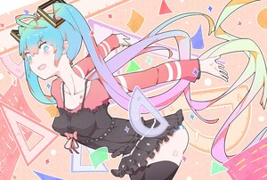 Rating: Safe Score: 35 Tags: aqua_eyes aqua_hair blush hatsune_miku long_hair panties striped_panties tagme_(artist) tattoo thighhighs twintails underwear vocaloid User: RyuZU