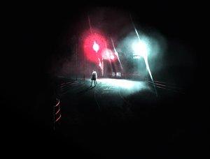 Rating: Safe Score: 100 Tags: dark demon night onibi_(foxhound4185) original red_eyes sword weapon white_hair User: SonicBlue