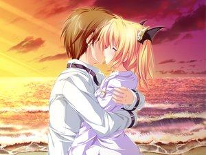 Rating: Safe Score: 68 Tags: beach blonde_hair clouds crying game_cg hug kiss magus_tale nina_geminis school_uniform sky tears tenmaso whirlpool User: Oyashiro-sama