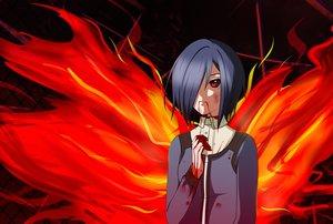 Rating: Safe Score: 28 Tags: blood dark kirishima_touka momodesuuu red_eyes tokyo_ghoul User: firs