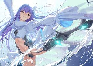 Rating: Safe Score: 86 Tags: aqua_eyes boots fate/grand_order fate_(series) long_hair meltryllis navel purple_hair ribbons spread_legs tsukikanade water User: RyuZU