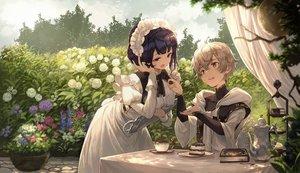 Rating: Safe Score: 44 Tags: book cake drink flowers food headband hoodie maid male mito_itsuki original short_hair User: BattlequeenYume