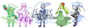 Rating: Safe Score: 130 Tags: anthropomorphism chandelure fire flowers hat lilligant mienshao moemon nintendo pokemon reuniclus shuushokuna_ekus tail zebstrika User: PAIIS