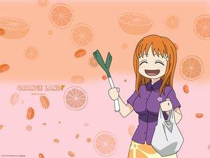 Rating: Safe Score: 8 Tags: bleach food fruit inoue_orihime leek orange orange_(fruit) User: Oyashiro-sama