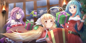 Rating: Safe Score: 50 Tags: anemone_(flower_knight_girl) anthropomorphism aqua_hair azur_lane bell blonde_hair blue_eyes bow cape christmas closers crossover dress eldridge_(azur_lane) flower_knight_girl loli long_hair pnt_(ddnu4555) purple_hair red_eyes santa_costume signed twintails violet_(closers) User: otaku_emmy