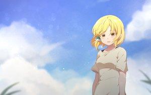 Rating: Safe Score: 38 Tags: blonde_hair brown_eyes clouds hidaka_koharu high_score_girl miaozi-san short_hair sky tears User: RyuZU
