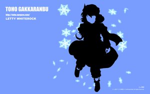 Rating: Safe Score: 6 Tags: blue dress hat letty_whiterock silhouette snow touhou User: gimkim