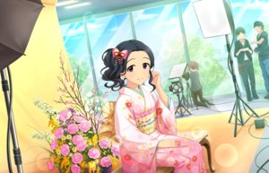 Rating: Safe Score: 12 Tags: annin_doufu black_eyes black_hair camera egami_tsubaki flowers group idolmaster idolmaster_cinderella_girls idolmaster_cinderella_girls_starlight_stage japanese_clothes kimono male ponytail rose User: luckyluna