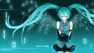 Rating: Safe Score: 26 Tags: aqua_eyes aqua_hair hatsune_miku tie twintails vocaloid wings User: HawthorneKitty