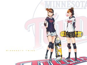 Rating: Safe Score: 117 Tags: baseball ekao futami_ami futami_mami idolmaster kneehighs shorts sport twins User: anaraquelk2