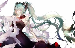 Rating: Safe Score: 47 Tags: animal bird blue_eyes choker dress edel_(qi--yu) green_hair hatsune_miku long_hair twintails vocaloid User: FormX