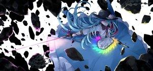 Rating: Safe Score: 59 Tags: dress gloves hat hinanawi_tenshi long_hair purple_eyes purple_hair sakuraba_yuuki sword touhou weapon User: RyuZU