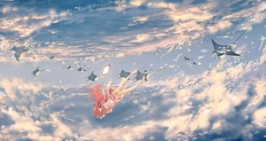 Rating: Safe Score: 83 Tags: animal barefoot clouds dress fish long_hair pink_hair rin_(shelter) shelter sky wenqing_yan_(yuumei_art) User: RyuZU