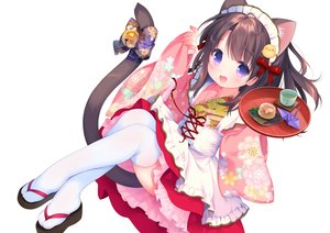 Rating: Safe Score: 55 Tags: animal_ears apron bell bow brown_hair catgirl cropped drink food headdress lolita_fashion maid original piyodera_mucha purple_eyes short_hair tail thighhighs waifu2x white User: otaku_emmy