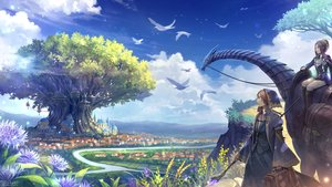 Rating: Safe Score: 53 Tags: animal bird building city clouds flowers landscape original sachi_(yumemayoi) scenic sky staff tree watermark User: FormX