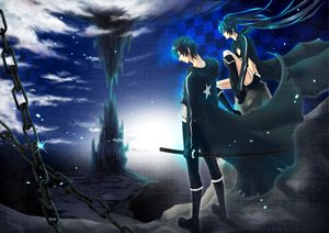 Rating: Safe Score: 27 Tags: black_rock_shooter chain katana kuroi_mato sword weapon User: HawthorneKitty