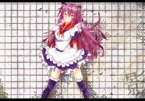 Rating: Safe Score: 69 Tags: animal_ears bakemonogatari blue_eyes blush catgirl long_hair maid monogatari_(series) purple_hair ryouma_(galley) senjougahara_hitagi thighhighs User: pantu