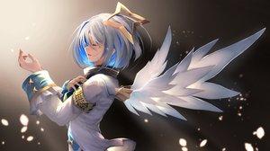 Rating: Safe Score: 49 Tags: amane_kanata angel gradient gray_hair hololive ohkuro_marimo short_hair wings User: RyuZU