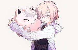 Rating: Safe Score: 43 Tags: crossover fate/grand_order fate_(series) hoodie hug jigglypuff mash_kyrielight pink_eyes pink_hair pokemon popokuri short_hair waifu2x white User: otaku_emmy
